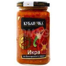 Икра из болгарского перца Кубаночка ст/б 350 гр