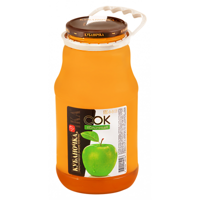 Сок яблочный «Кубаночка» (0,75 л)
