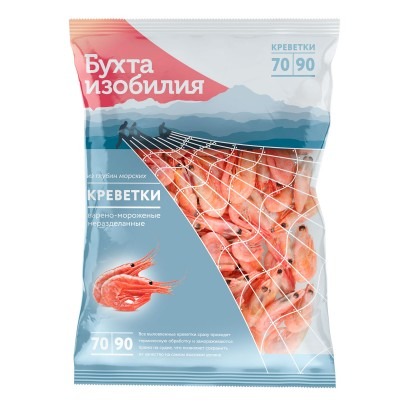 Креветки Отборные 70/90 (850 гр)